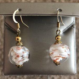 Beautiful Italian Earrings from Murano, Italy